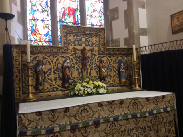 The Lady Chapel, a smaller and more intimate chapel within the larger church.