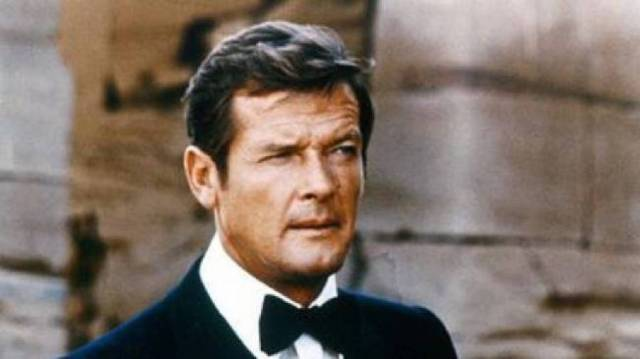Sir Roger Moore as James Bond 007 in Egypt