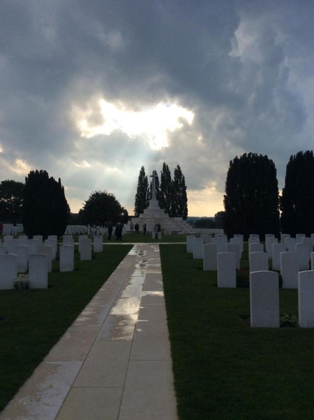 I took this photo at the Tyne Cot cemetery