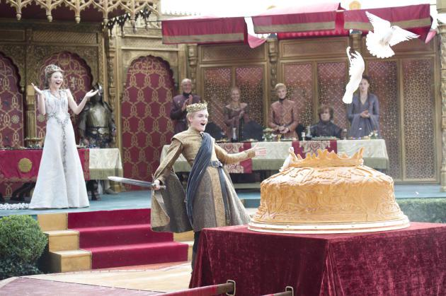 Prince Joffrey gets ready to tuck into the pie of his life.