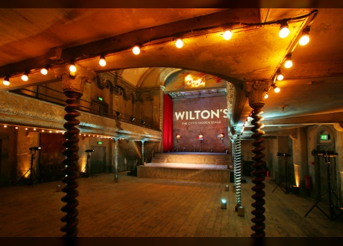 The Lower Level of the restored Wilton's Music Hall