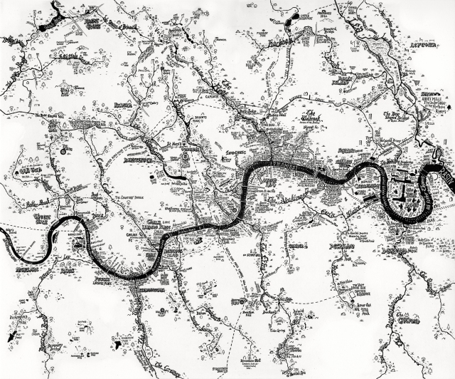 Excellent Rivers of London map by Stephen Walter