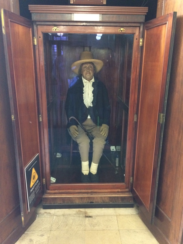 The preserved Auto-Icon of Jeremy Bentham