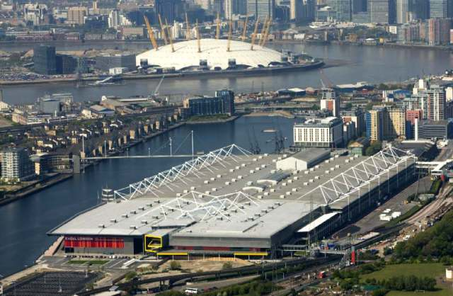 ExCeL-London-Royal-Docks-Victoria-Aerial-View