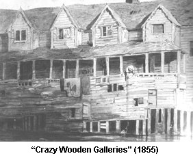The Crazy Wooden Galleries as described by Charles Dickens