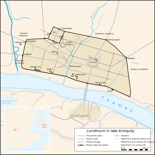 Map of Londinium - Roman London.
