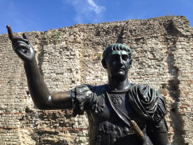 Emperor Trajan and the Roman City Wall