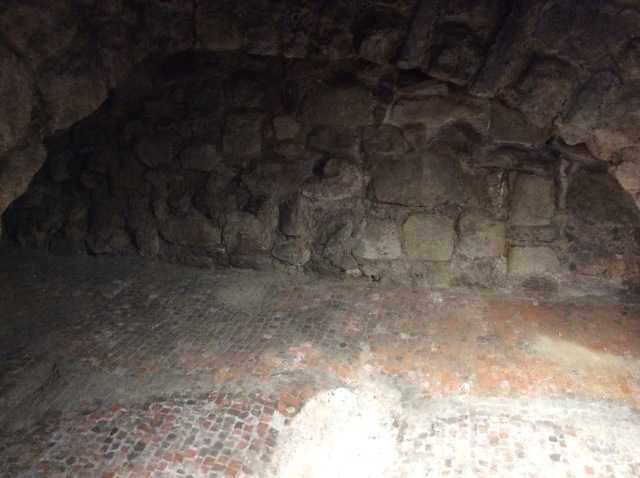 The floor of a Roman House over 20 feet below the streets of London