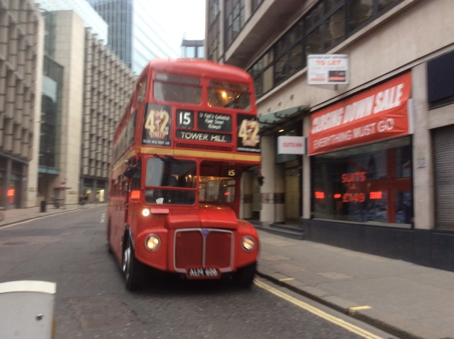 An original Routemaster Bus
