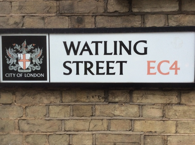 Watling Street just a few minutes walk from London Bridge just as it was 2,000 years ago.
