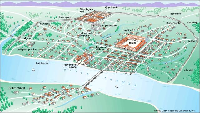Map of Roman London - Londinium