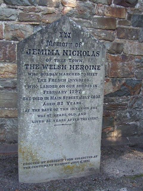 Memorial_stone_for_Jemima_Nicholas_-_geograph.org.uk_-_272792