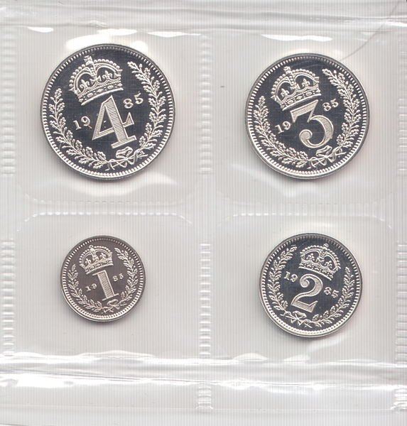 Modern era Maundy Money, this a set from 1985.