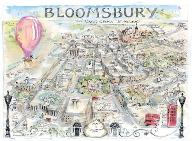 Map of Bloomsbury