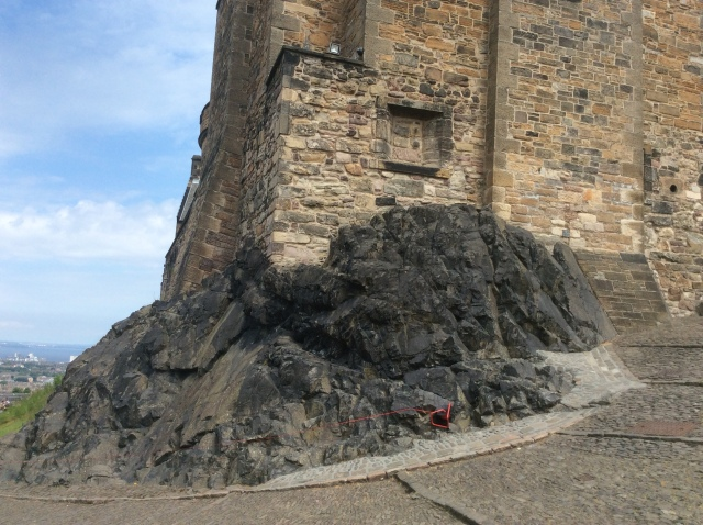 The castle is built on top of an extinct volcano