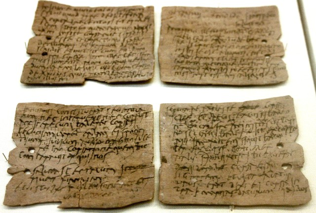 Just some of the many Roman writing tablets found at Vindolanda.