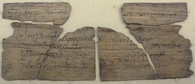 Invitation from Claudia Severa to Sulpicia Lepidina, ref Tab. Vindol. II 291