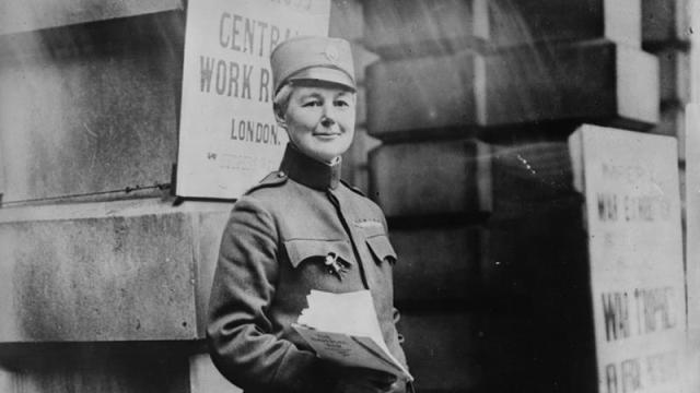 Captain-Flora-Sandes-the-only-British-woman-to-serve-as-a-front-line-soldier-in-WWI