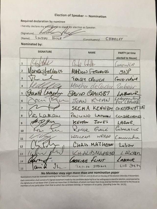 Speaker Nomination form