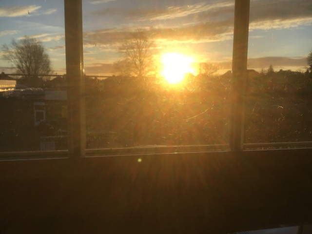 Sunrise from my bed