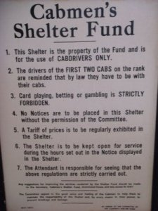 Taxi shelter rules