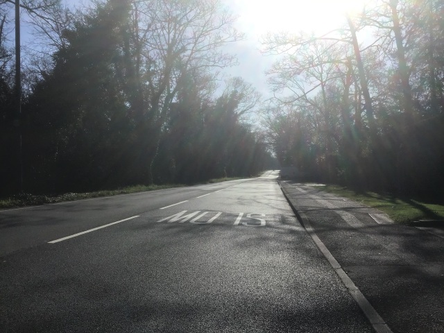 The deserted old main road to London