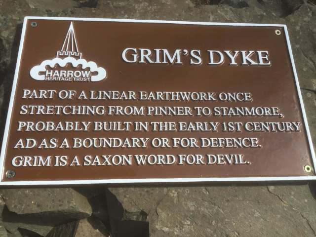 Grims Dyke Sign