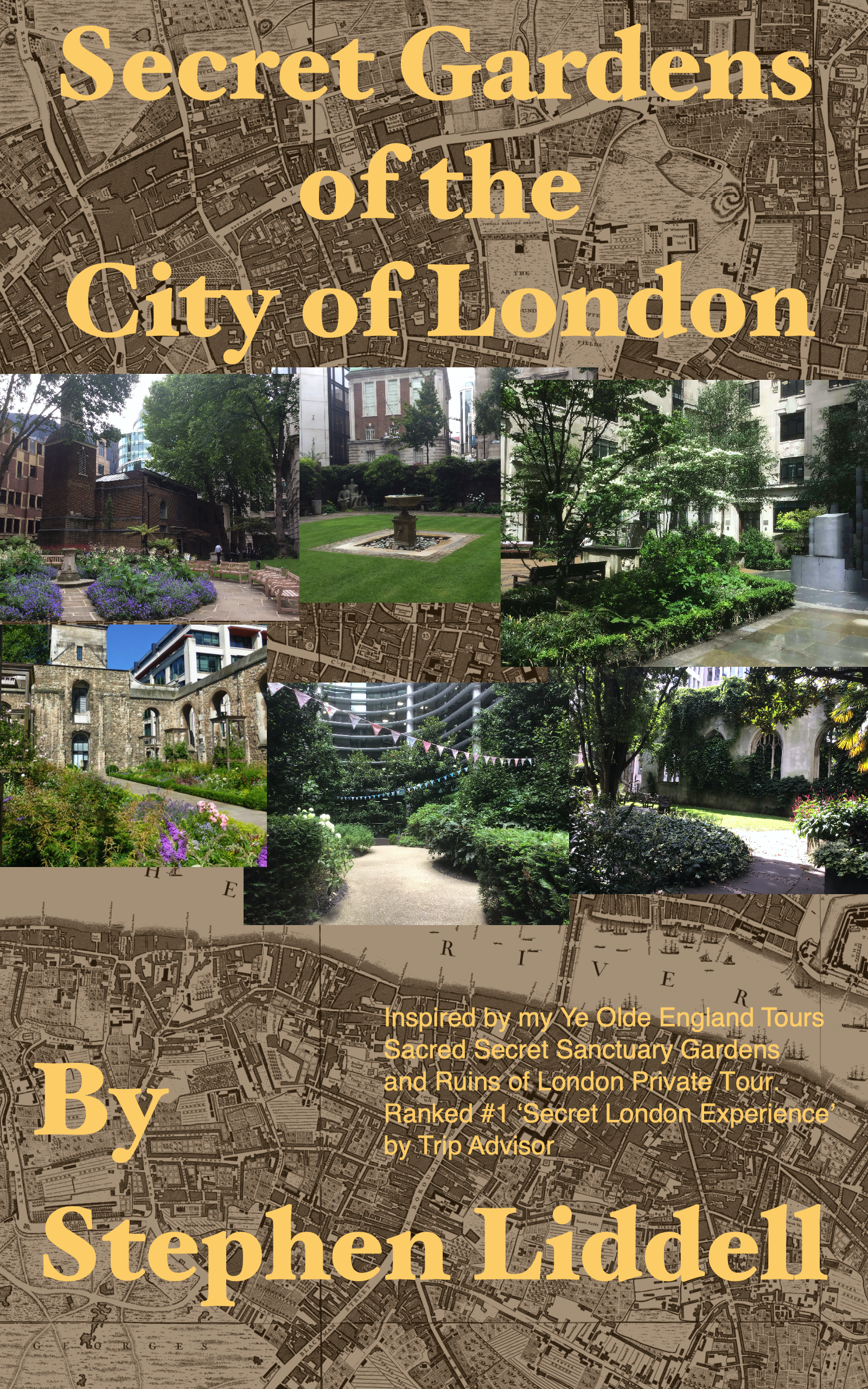 Secret Gardens of the City of London Kindle Cover