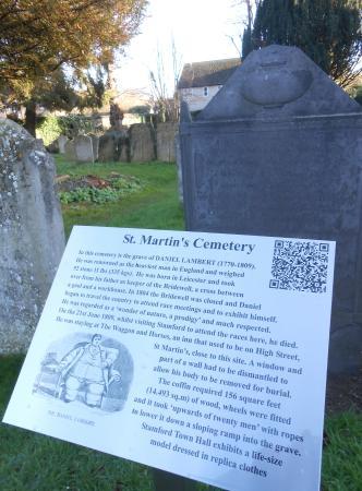 The grave of Daniel Lambert