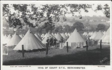 The tented camp of the Devils Own in Kitchener's Field just outside Berkhamsted.