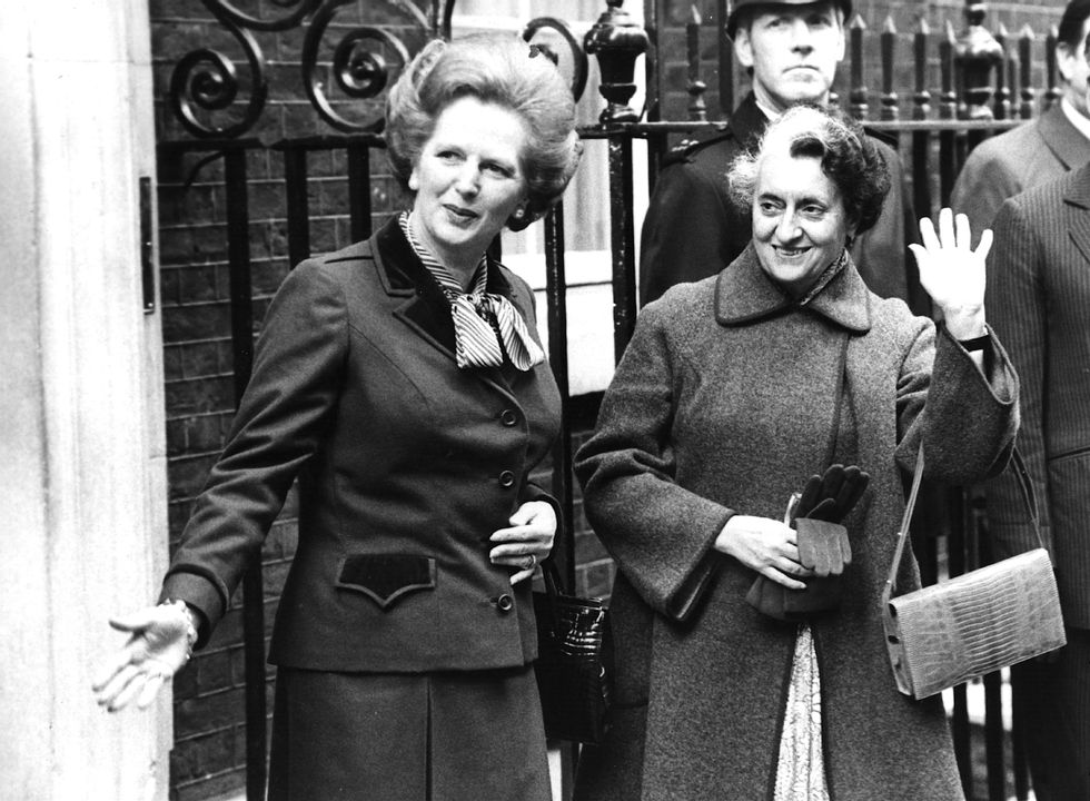 Two of the most powerful women in history, Prime Ministers Margaret Thatcher and Indira Gandhi.