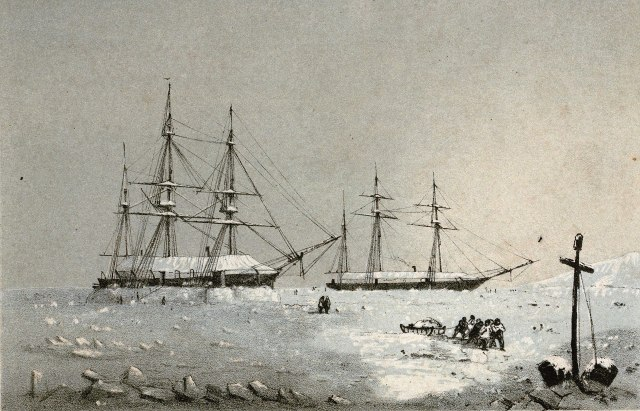 1920px-Lossy-page1-4800px-H.M.S_Resolute_and_Intrepid_winter_Quarters,_Melville_Island,_1852-53_RMG_PU6194_(cropped)