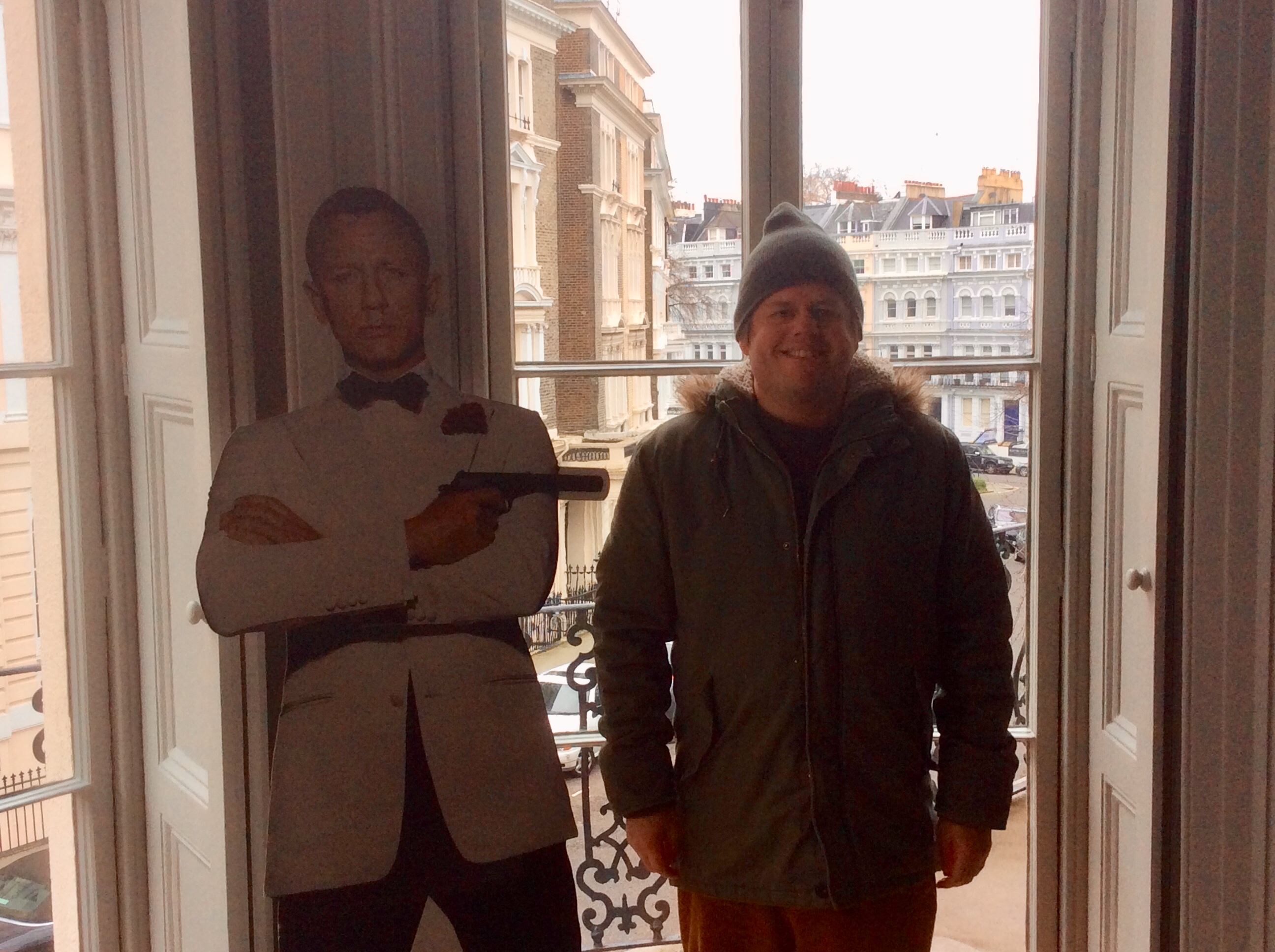Me and 007 in his rather plush home.