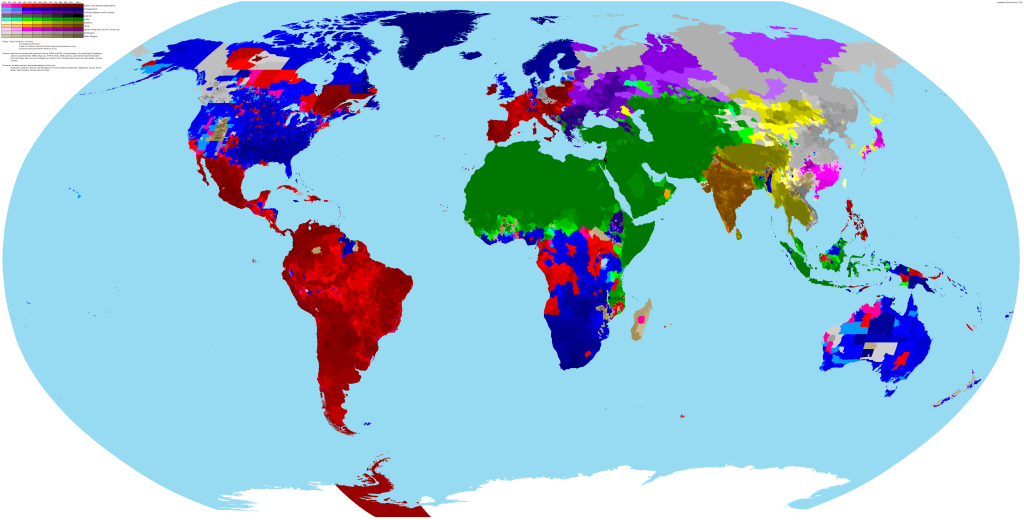 Map of world religions
