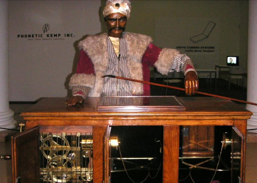 The Mechanical Turk giving someone the eye!