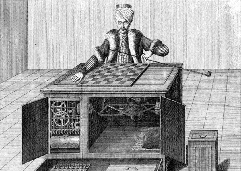 Before each game of chess the doors were opened to illustrate there was no trickery or no person hidden inside.