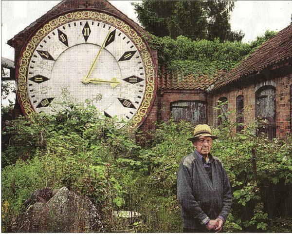 Clock on the barn